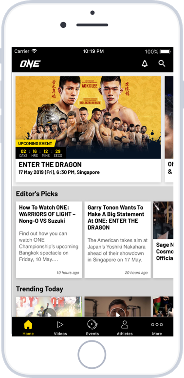 Download the ONE Super App | ONE Championship - The Home Of Martial Arts