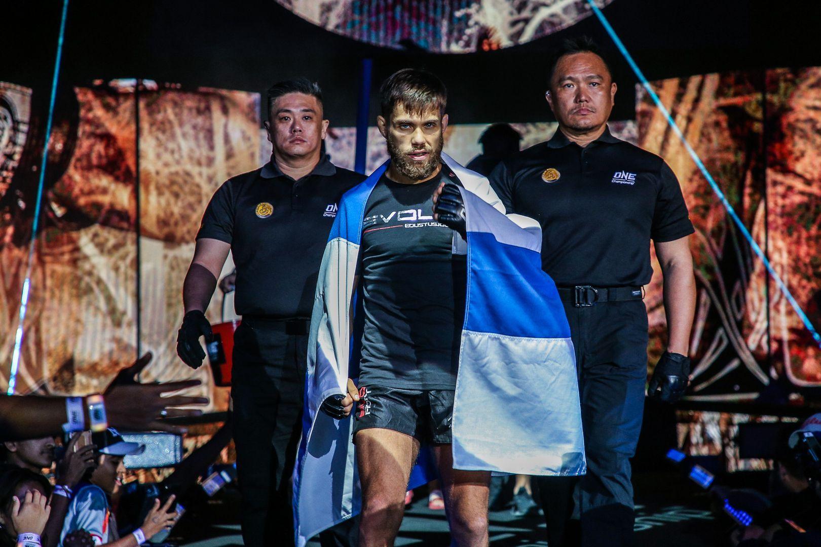 Aleksi Toivonen's walkout to face Akihiro Fujisawa at ONE: MASTERS OF DESTINY