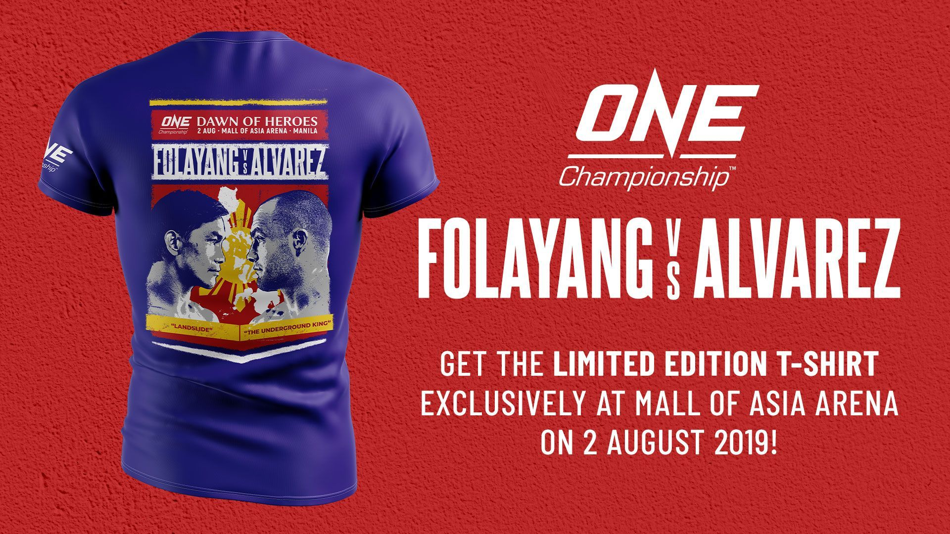 eduard folayang eddie alvarez special edition shirt manila philippines Dawn Of Heroes