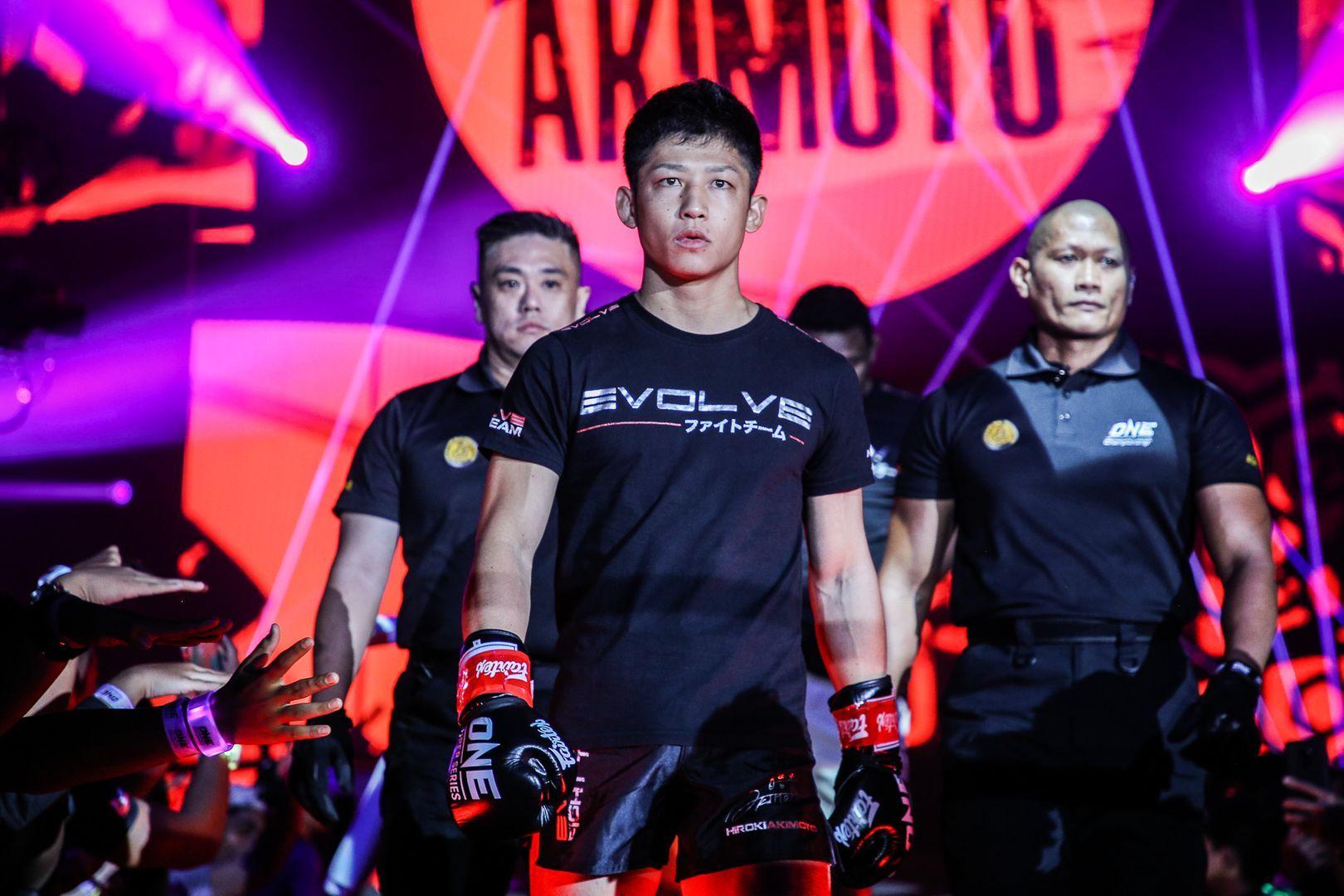 ONe Super Series flyweight Hiroki Akimoto