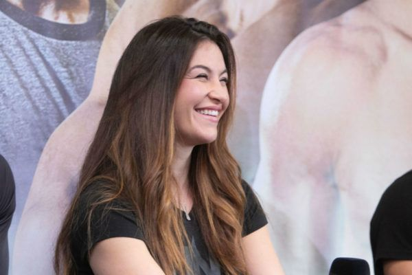 ONE Championship Vice President Miesha Tate smiles during an interview