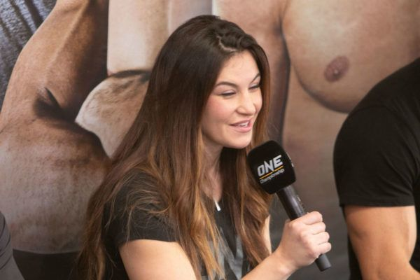 ONE Championship Vice President Miesha Tate takes the mic and answers a fan's question