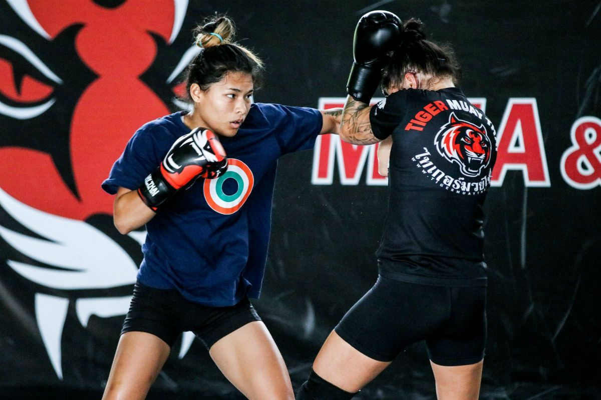 Indian martial artist Asha Roka training ahead of her ONE debut