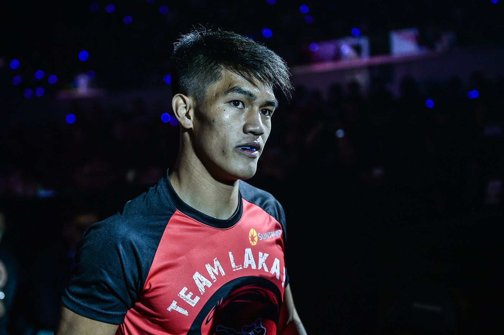 Philippine martial artist Danny Kingad makes his ring walk at ONE: DAWN OF HEROES