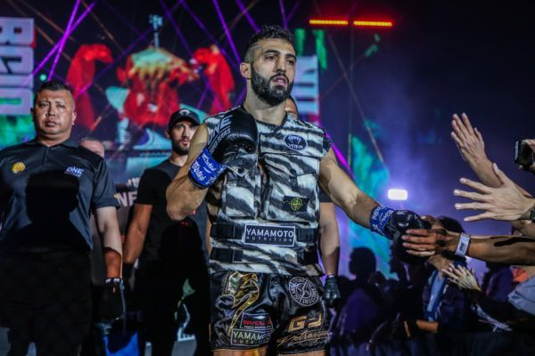 Giorgio Petrosyan makes his entrance at ONE: ONE: DREAMS OF GOLD