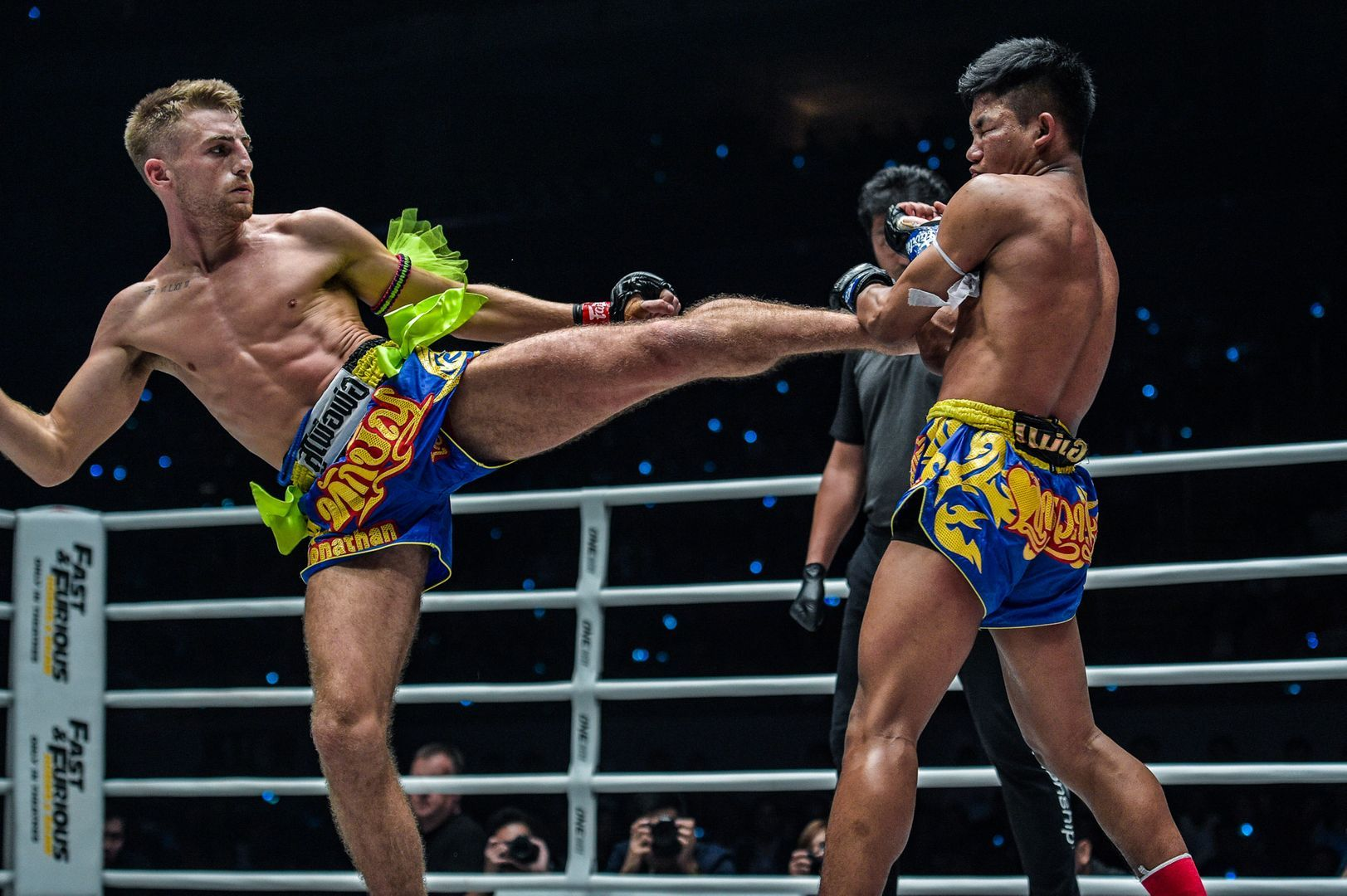 Jonathan Haggerty's left kick finds a home at ONE: DAWN OF HEROES in Manila.