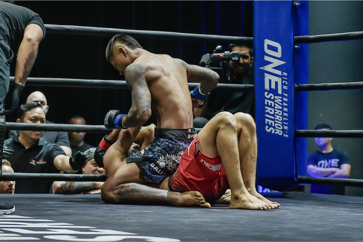 New Zealand-raised Myanmar star Punnya Sai unloaded ground and pound at ONE Warrior Series 7