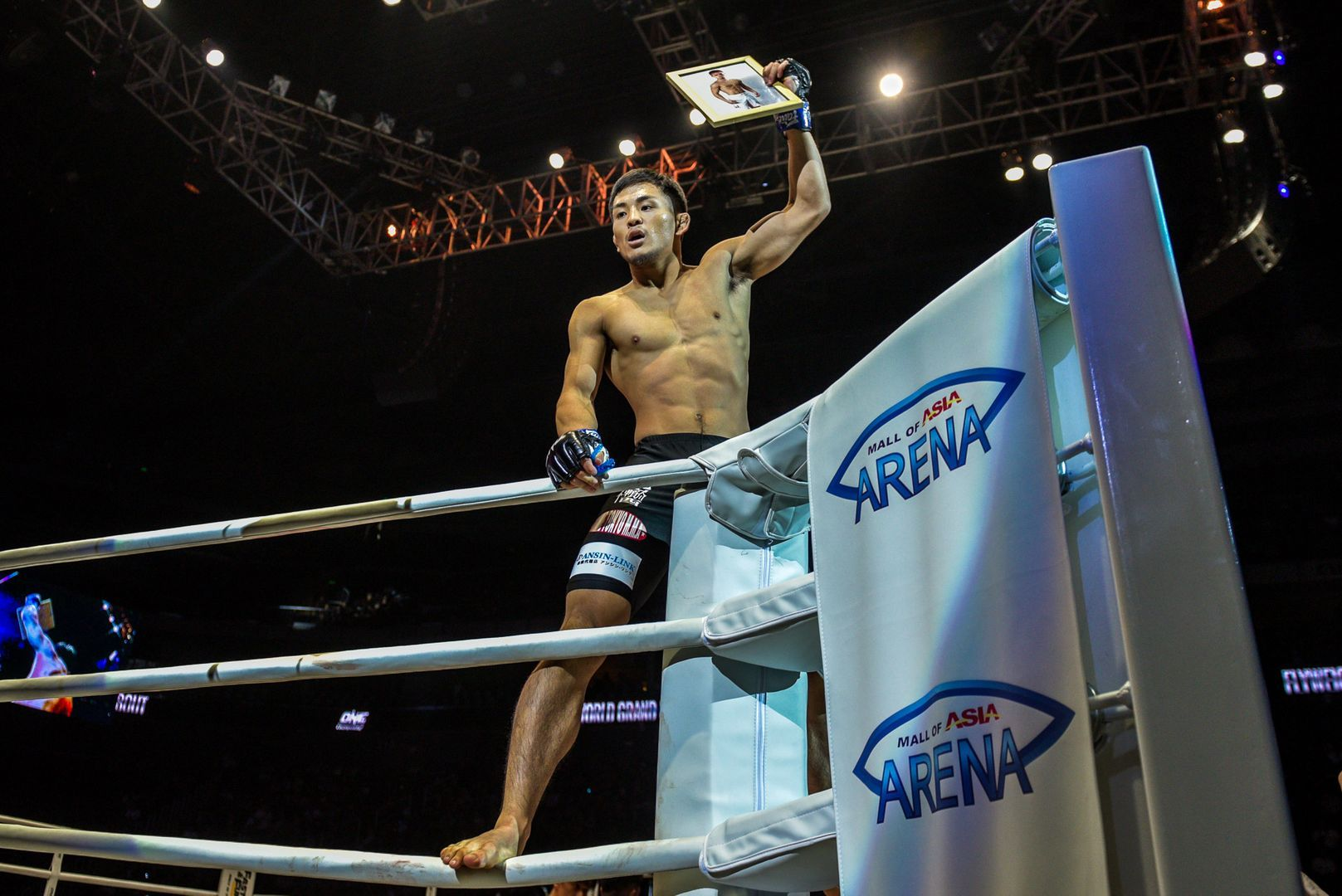 Rising Japanese martial arts star Yuyu Wakamatsu celebrates his knockout victory in Manila, Philippines