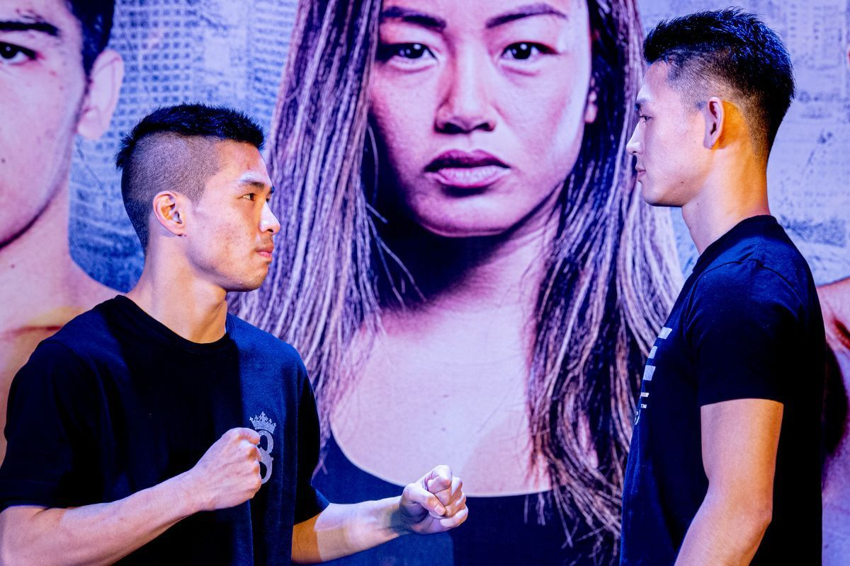 Chris Nguyen faces Yukinori Ogasawara at the ONE: IMMORTAL TRIUMPH open workout in Ho Chi Minh City, Vietnam