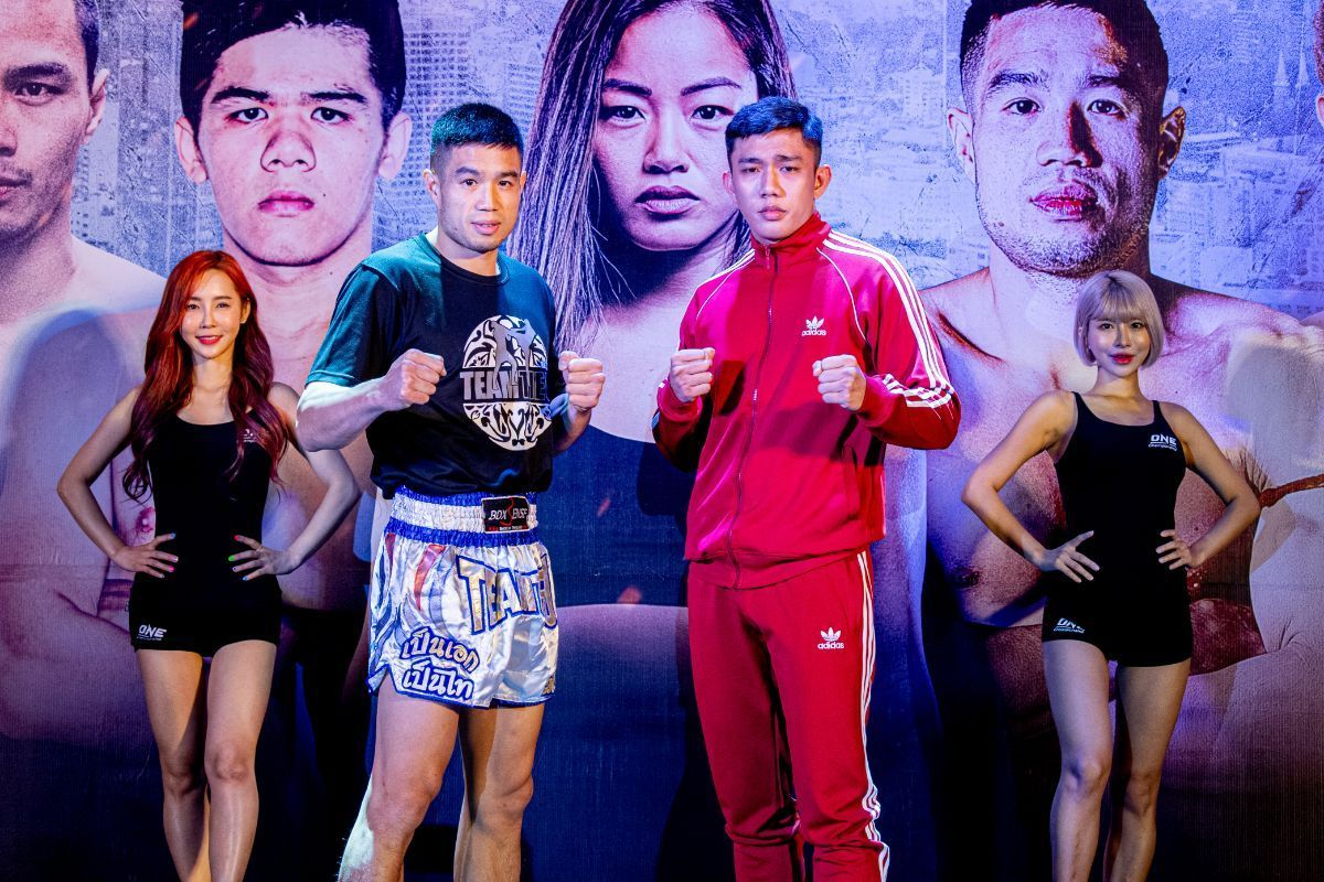 Michael Pham and Mohamad Fakri Bin Yusoff face the media at the ONE: IMMORTAL TRIUMPH open workout in Ho Chi Minh City, Vietnam