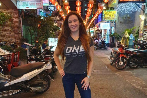 ONE Championship Vice President Miesha Tate in Ho Chi Minh City