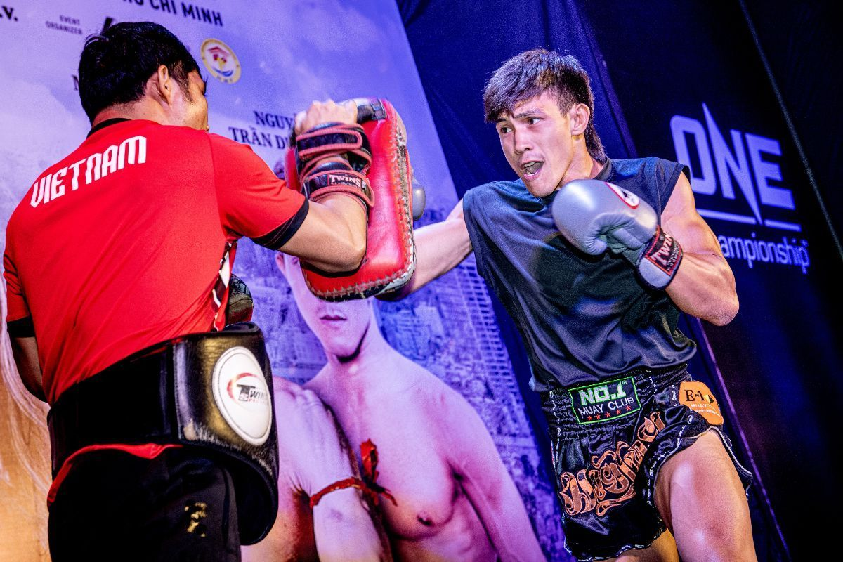 Nguyen Tran Duy Nhat at the ONE: IMMORTAL TRIUMPH open workout