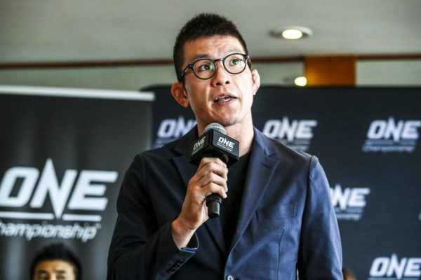 Japanese mixed martial arts legend Shinya Aoki speaks at a press conference
