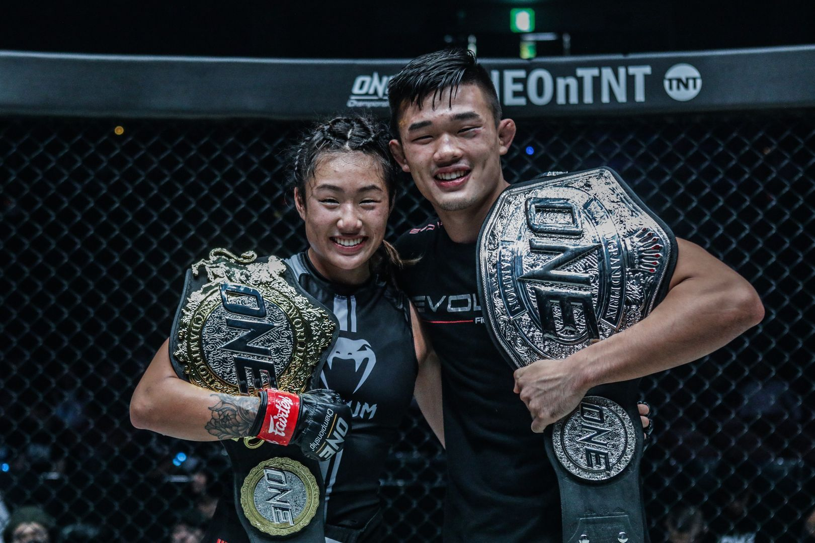The first sibling World Champions in mixed martial arts history, Angela and Christian Lee