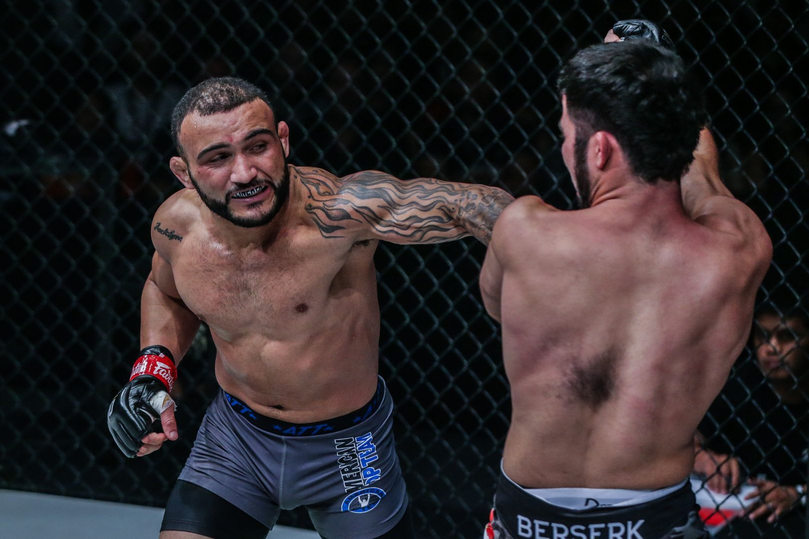 Brazil's John Lineker throws his 'Hands Of Stone' at Muin Gafurov in October 2019