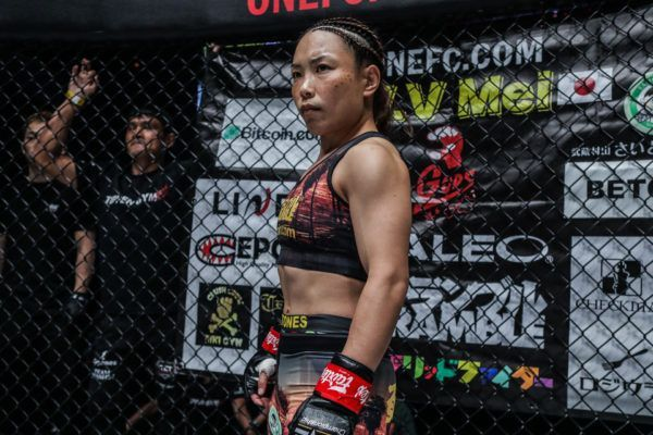 Japanese mixed martial arts star Mei Yamaguchi is in the Circle