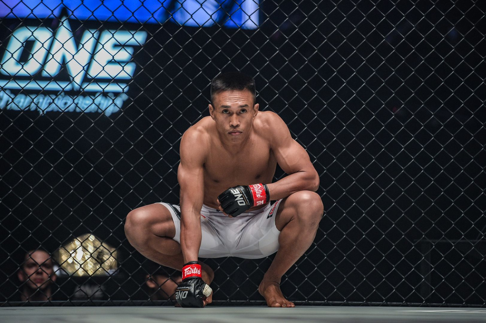 "Indonesian mixed martial artist ""The Terminator"" Sunoto takes a knee"
