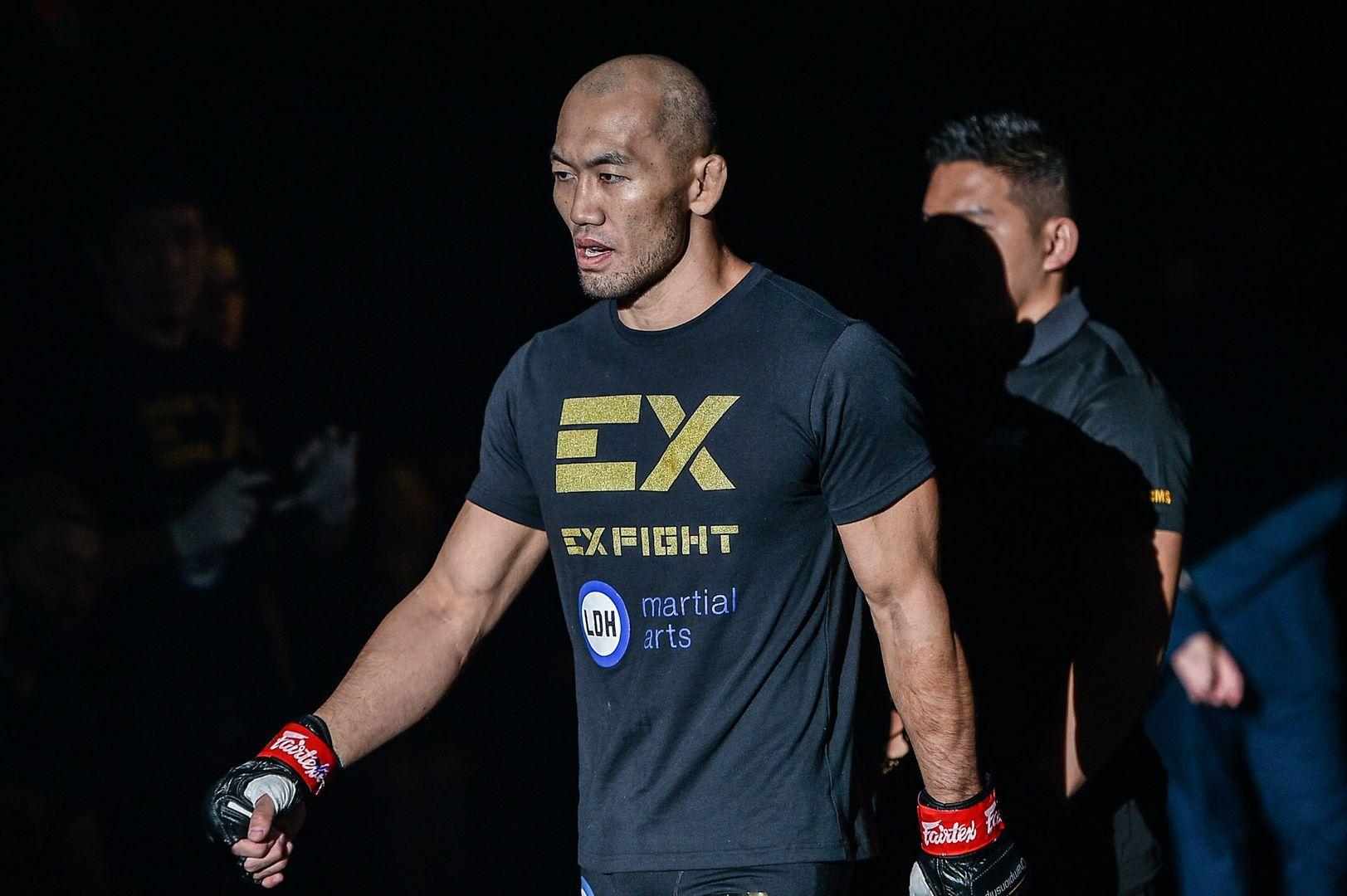 Japanese mixed martial arts legend Yushin Okami enters the arena