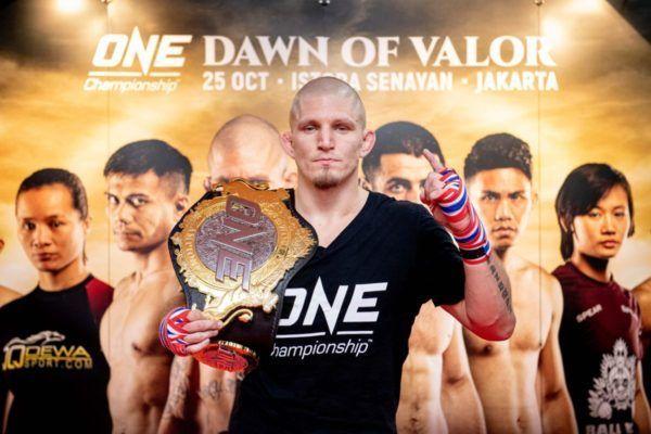 ONE Welterweight World Champion Zebaztian Kadestam at the ONE DAWN OF VALOR open workout