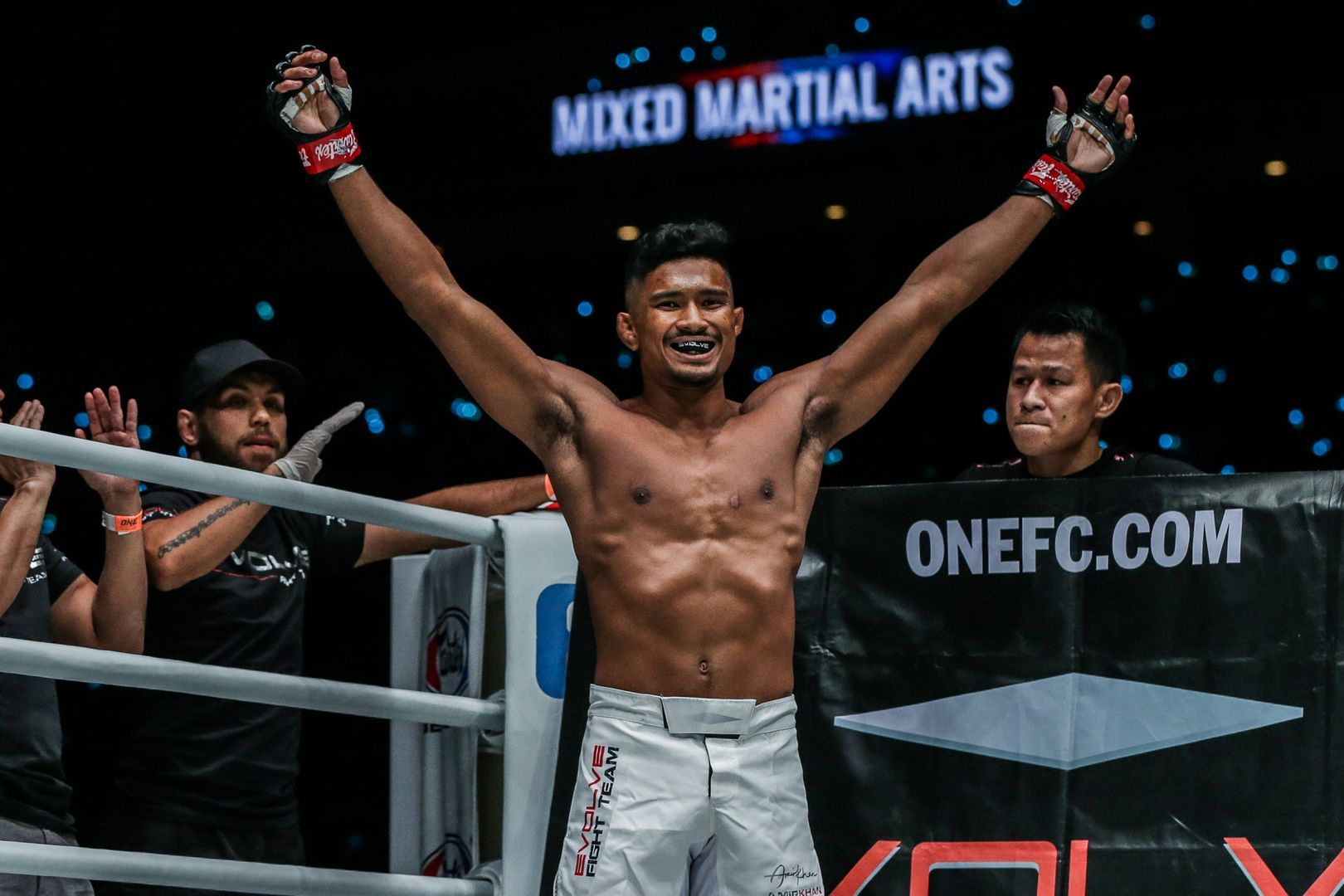 Singaporean mixed martial artist Amir Khan is ready for action