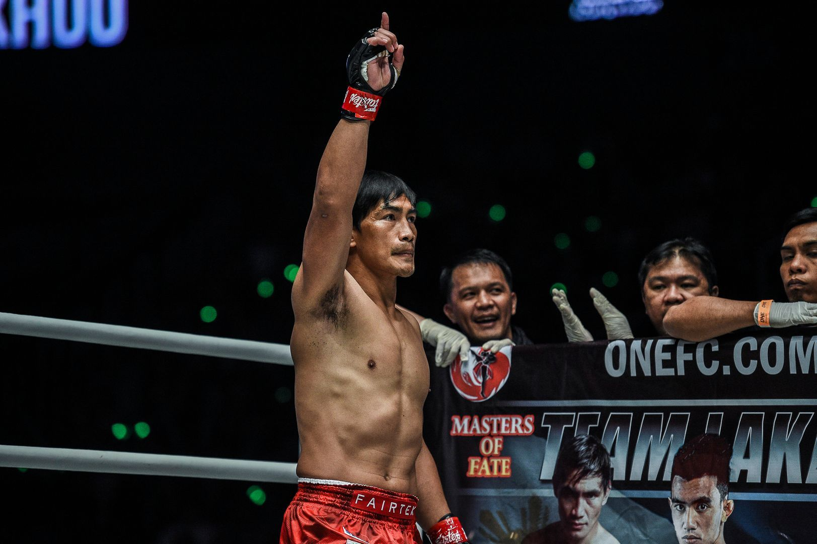 Former ONE Lightweight World Champion Eduard Folayang at ONE: MASTERS OF FATE