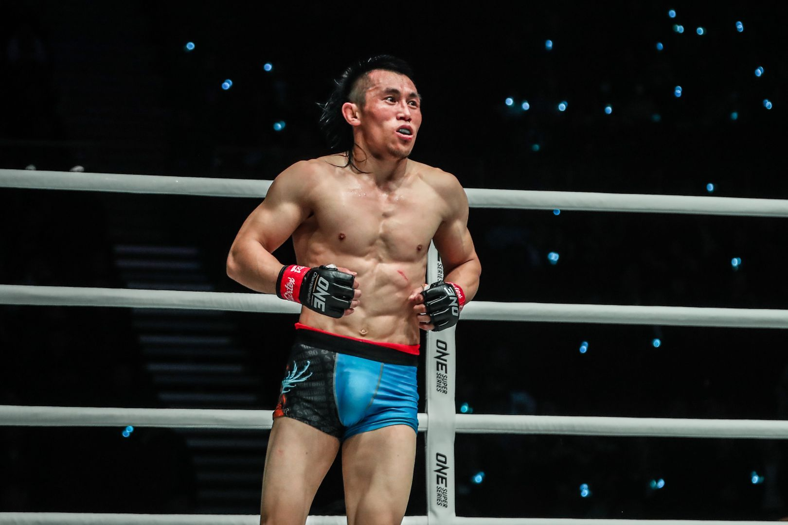 Chinese mixed martial artist Hexigetu gets ready to fight
