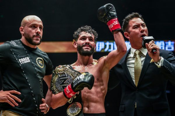 ONE Flyweight Kickboxing World Champion Ilias Ennahachi at ONE AGE OF DRAGONS