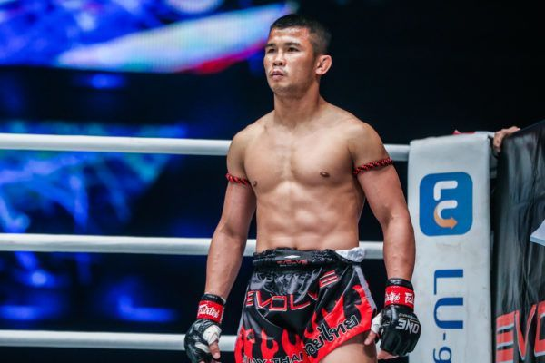 ONE Bantamweight World Champion Nong-O Gaiyanghadao stands in the ring