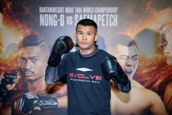 ONE Bantanweight Muay Thai World Champion Nong-O Gaiyanghadao at ONE EDGE OF GREATNESS open workout in Singapore