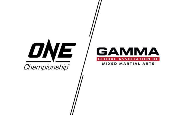 Logos for ONE Championship and the Global Association Of Mixed Martial Arts