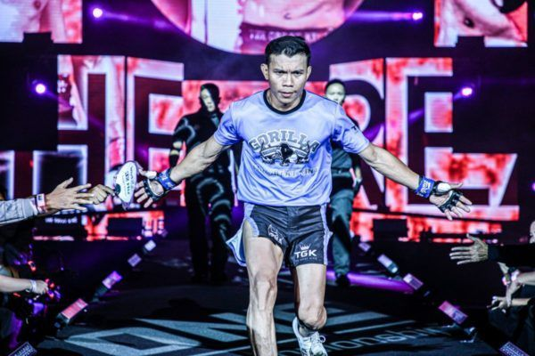 Indonesian mixed martial artist Paul Lumihi walks to the Circle with determination