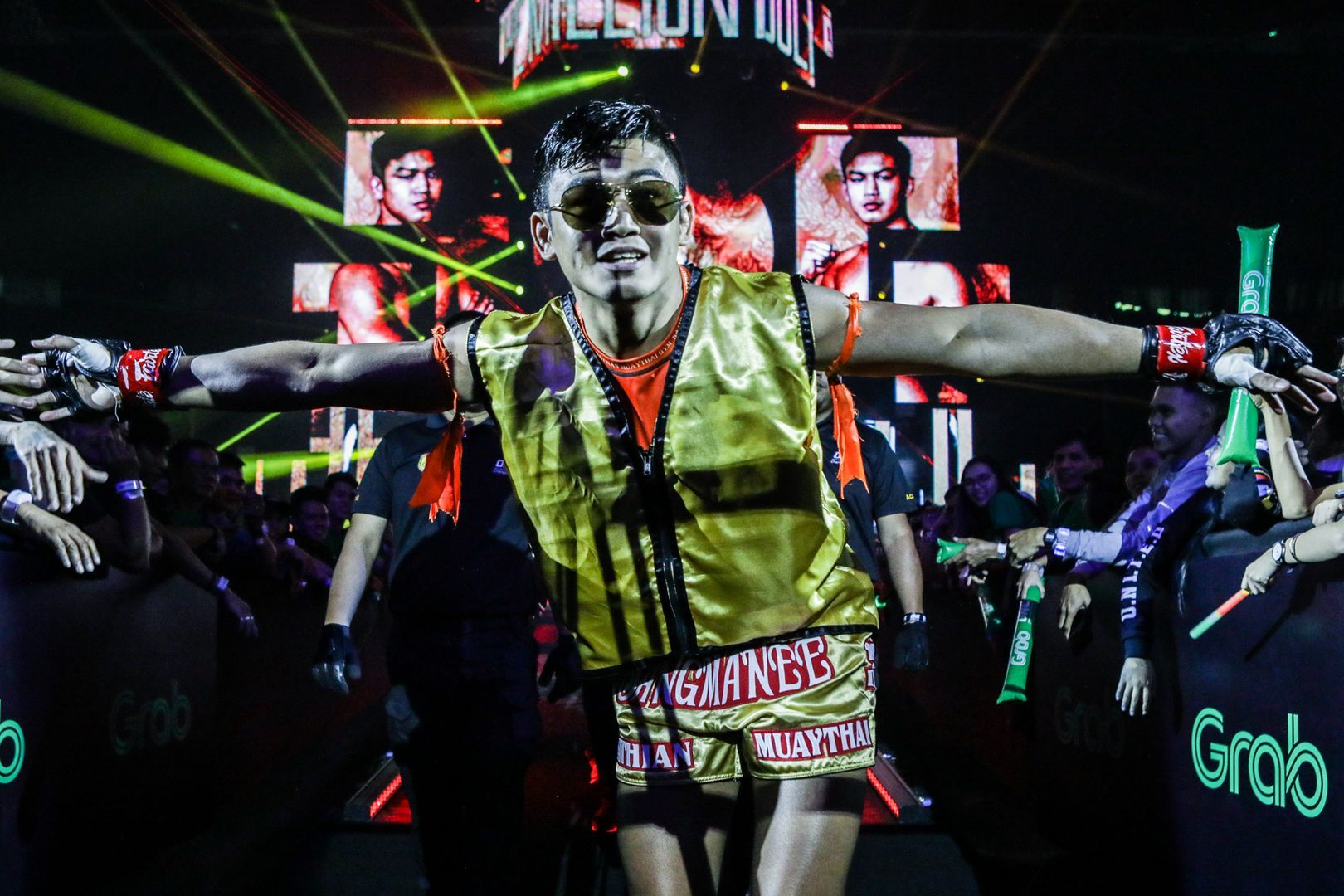 Sangmanee Sathian MuayThai makes his entrance at ONE: MASTERS OF FATE