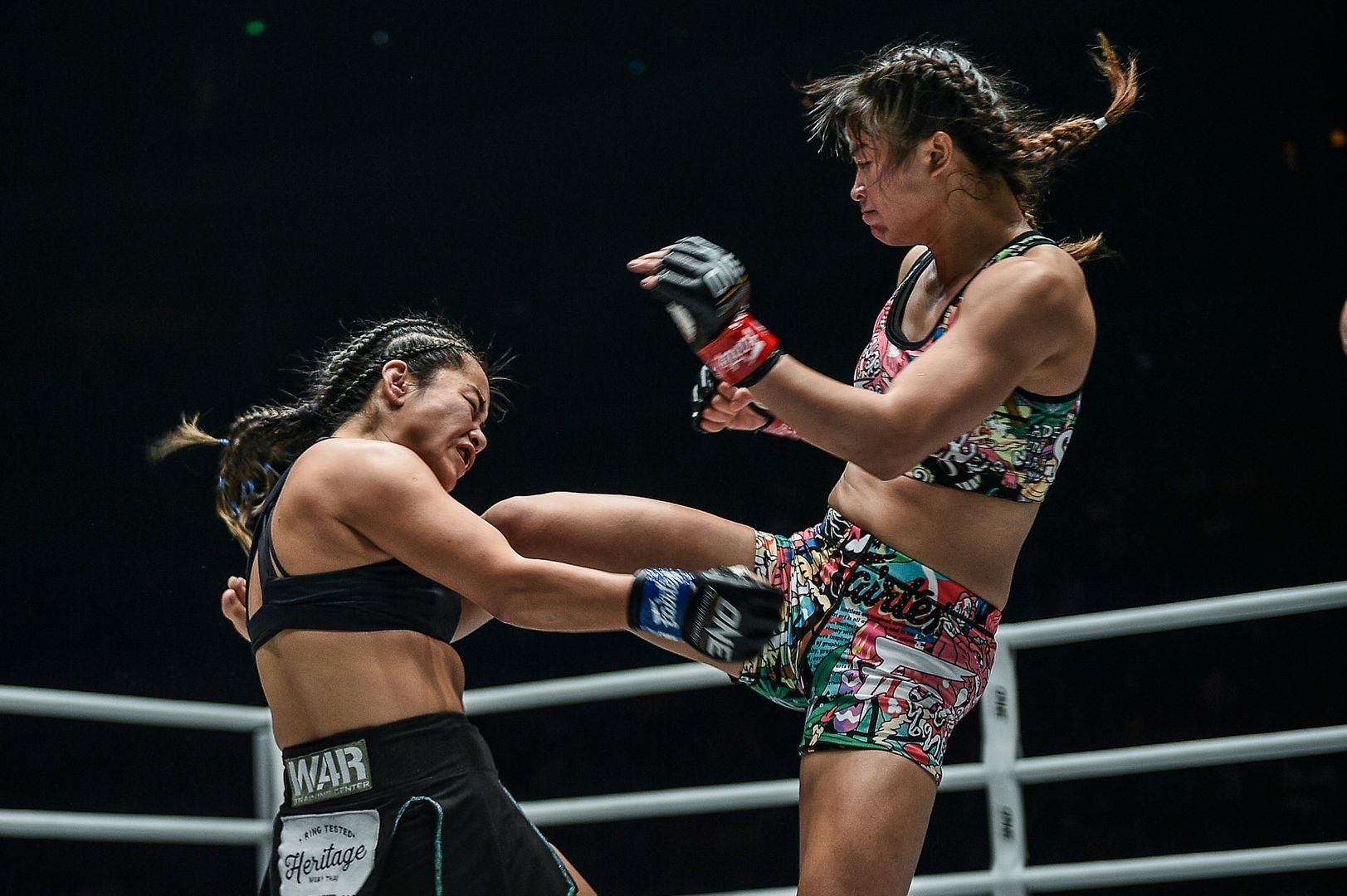 Stamp Fairtex kicks Bi Nguyen