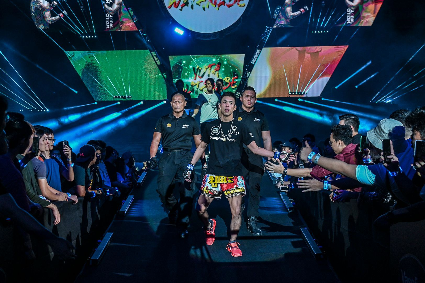 Japanese Muay Thai Fighter Yuta Watanabe enters the arena