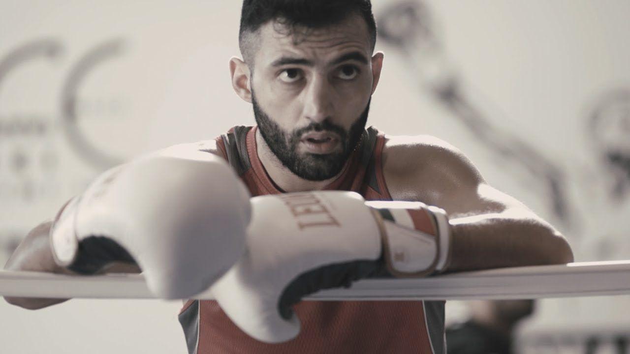 Giorgio Petrosyan at his gym in Milan, Italy