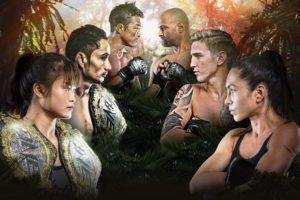 The main event participants of ONE: KING OF THE JUNGLE