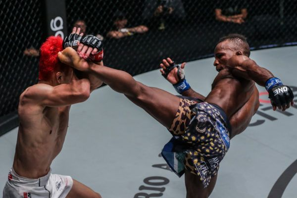 South Africa's Bokang Masunyane battles with Japanese strawweight Ryuto Sawada
