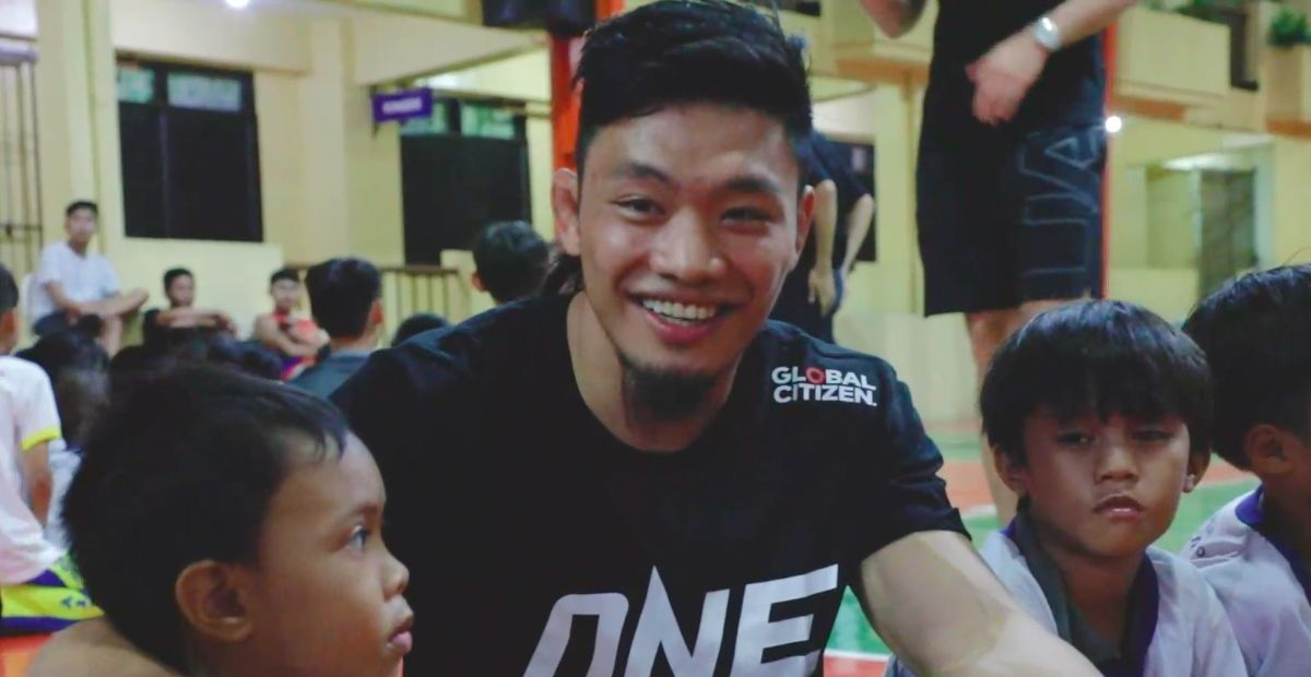 Lito Adiwang at a Global Citizen Activation in the Philippines in November 2019