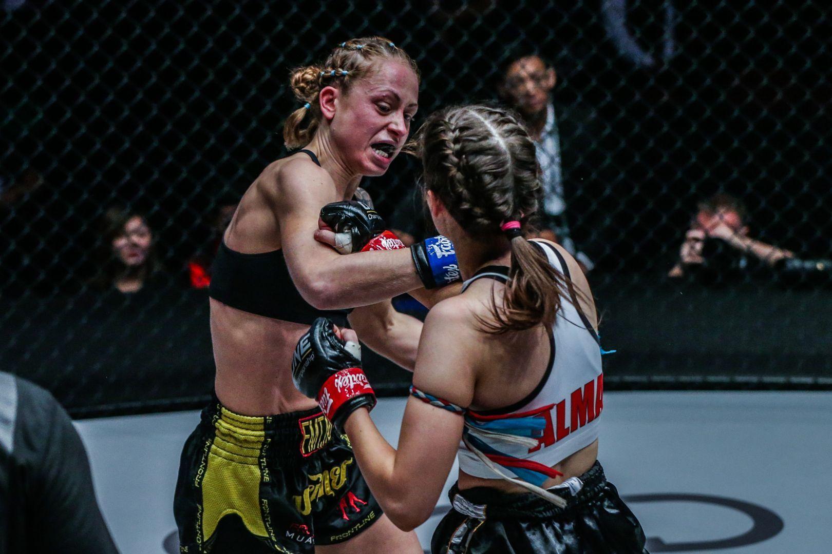 Norway's Anne Line Hogstad faces Australia's Alma Juniku