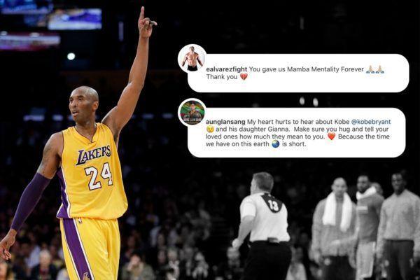 Martial artists Aung La N Sang and Eddie Alvarez pay tribute to NBA legend Kobe Bryant