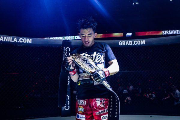 ONE Strawweight World Champion Joshua PAcio after his win against Alex Silva