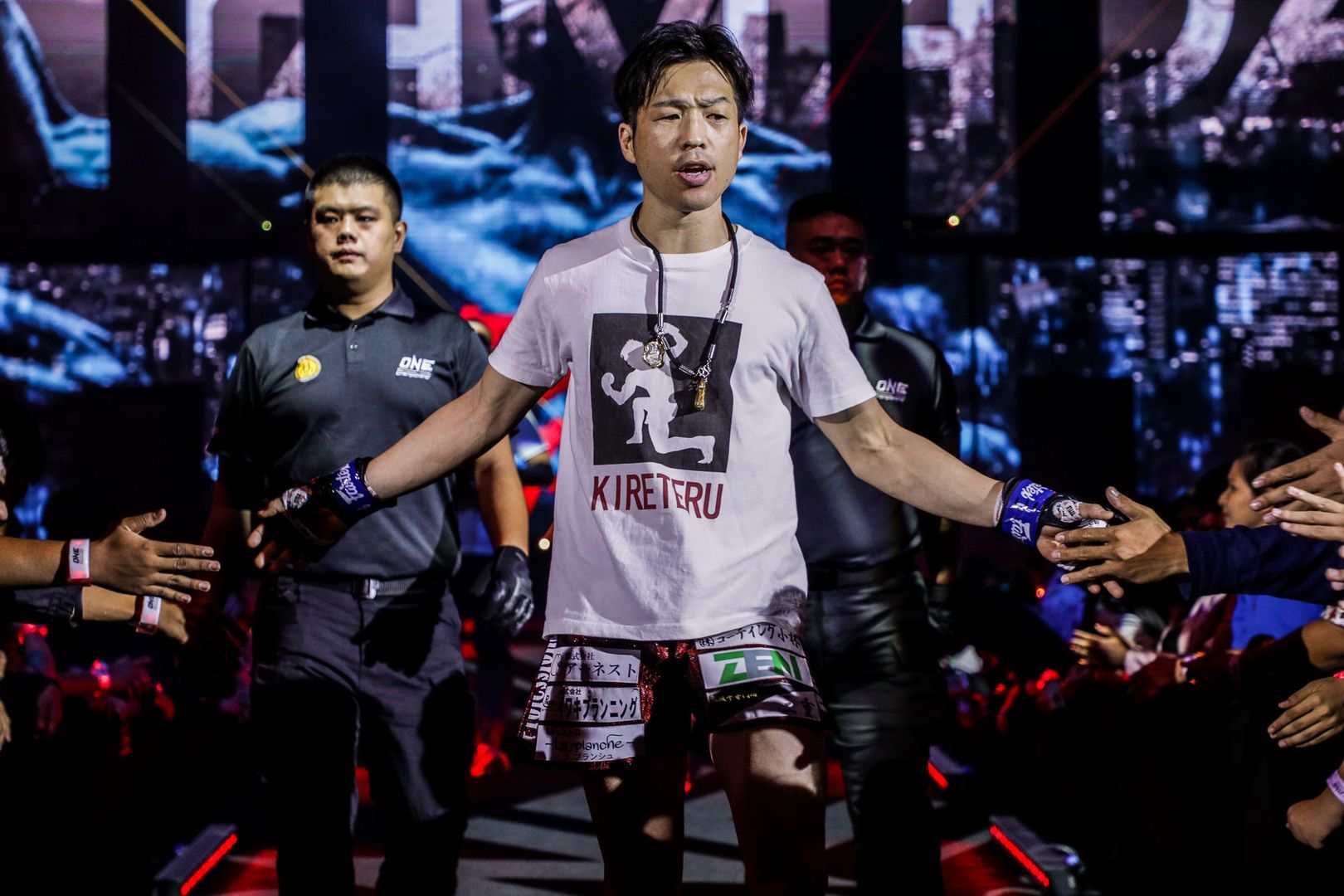 Japanese Muay Thai Fighter Kenta Yamada makes his entrance