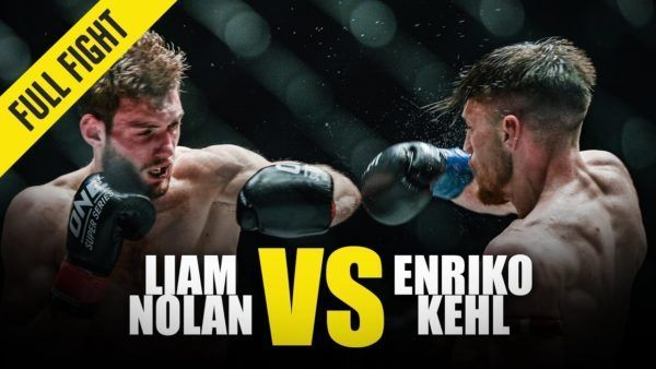 Liam Nolan and Enriko Kehl exchange heavy leather at ONE: REIGN OF VALOR.
