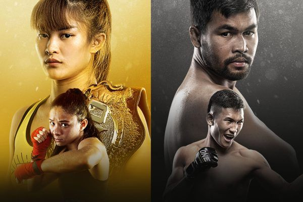 The main event stars of ONE: A NEW BREED, including Stamp Fairtex, Allycia Hellen Rodrigues, Rodlek PK.Saenchai Muaythaigym, and Kulabdam Sor. Jor. Piek Uthai