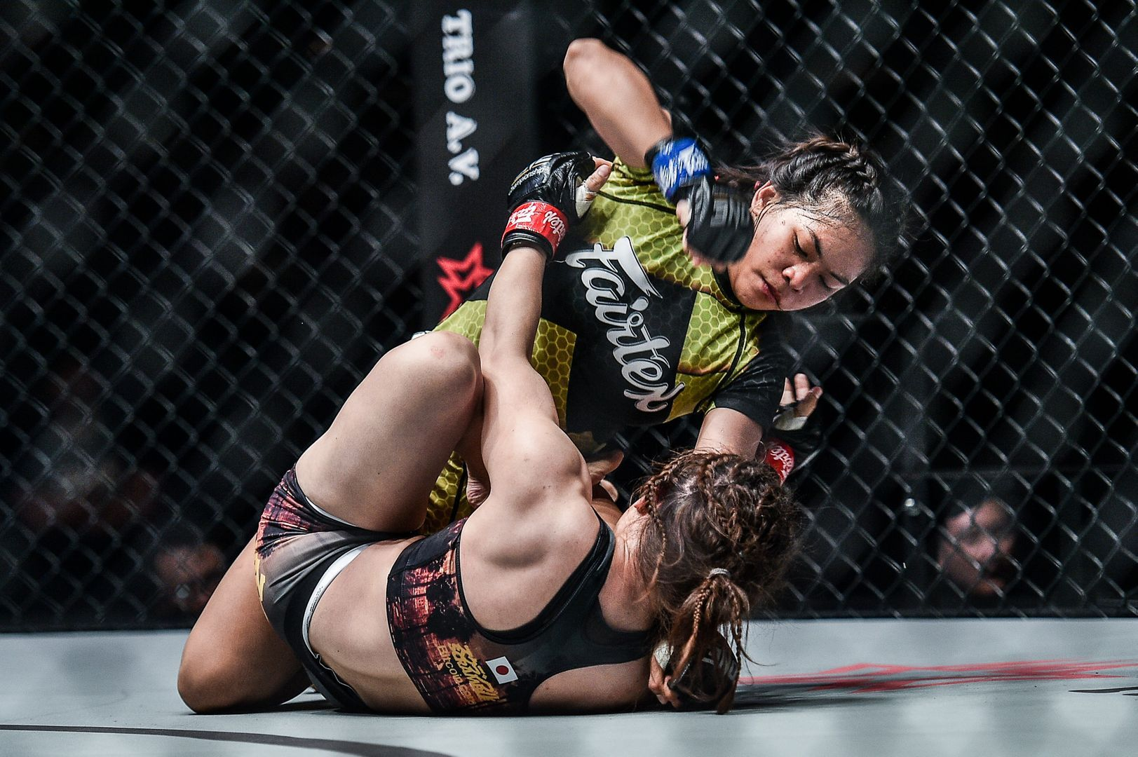Philippine mixed martial artist Denice Zamboanga rains down ground and pound