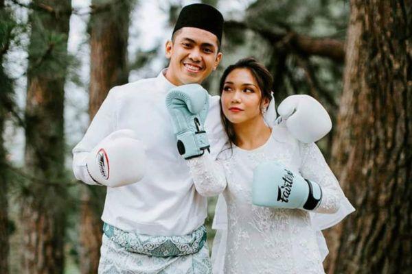 Malaysian martial artists Hisyam Samsudin and Edilah Johany get married