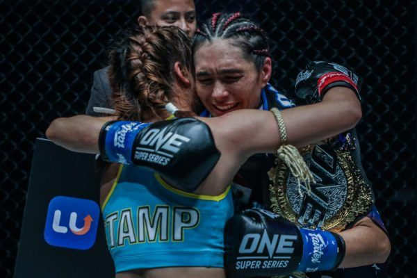Stamp Fairtex congratulates Janet Todd