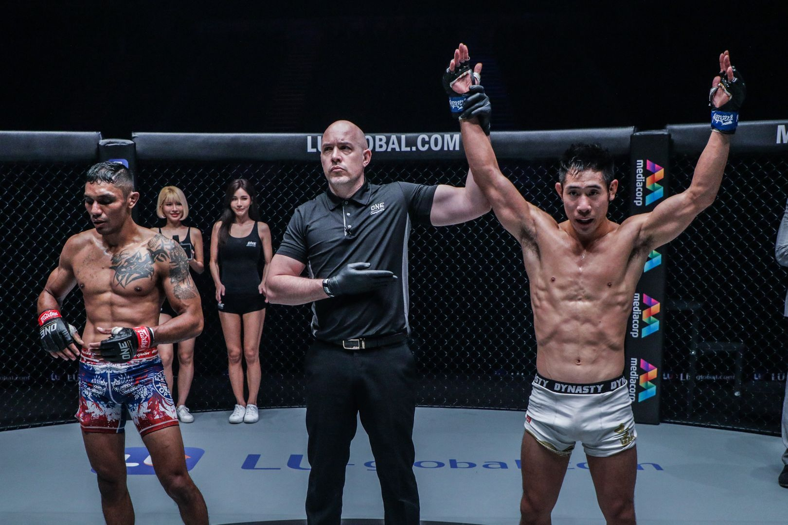 Jeff Chan from MMA Shredded celebrates his submission win against Radeem Rahman
