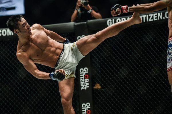 Jeff Chan from MMAShredded kicks Radeem Rahman at ONE KING OF THE JUNGLE
