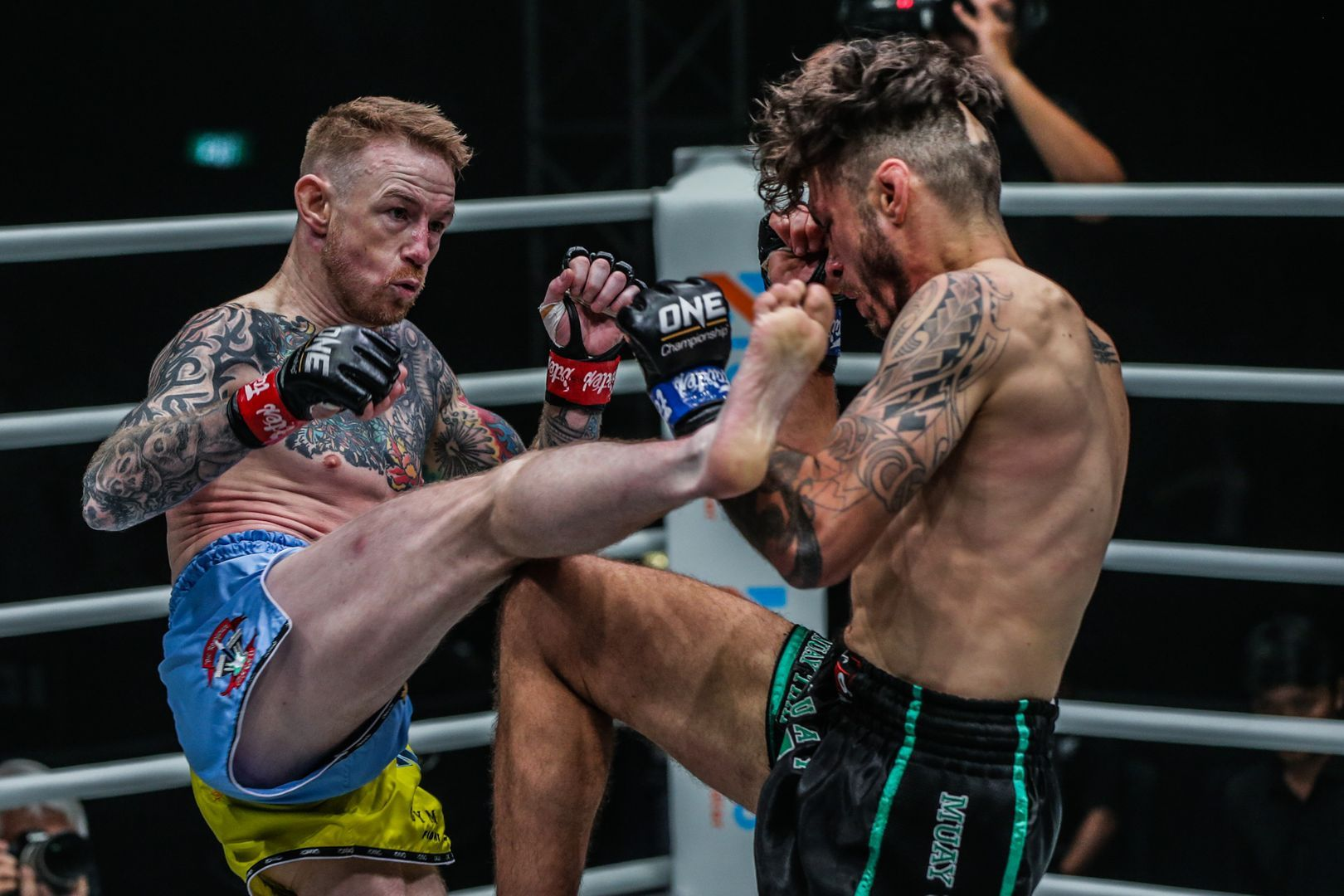 Britan's Andy Howson kicks Josh Tonna in his ONE Championship debut